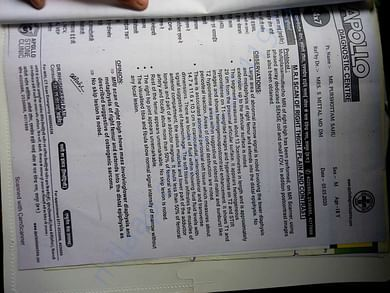 This is medical document of the individual