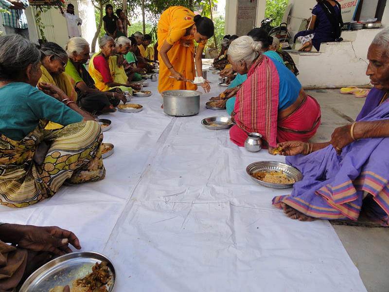 Food Sponsorship for poor old age people india