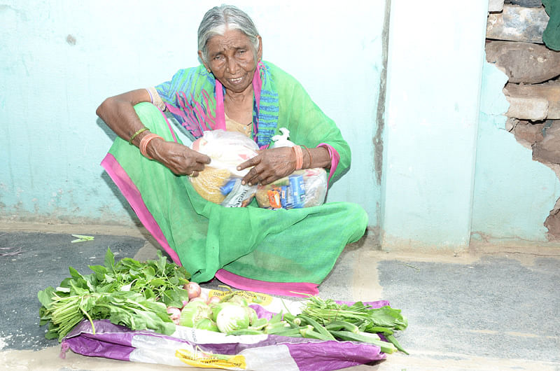 helping monthly groceries sponsorship for poor elder
