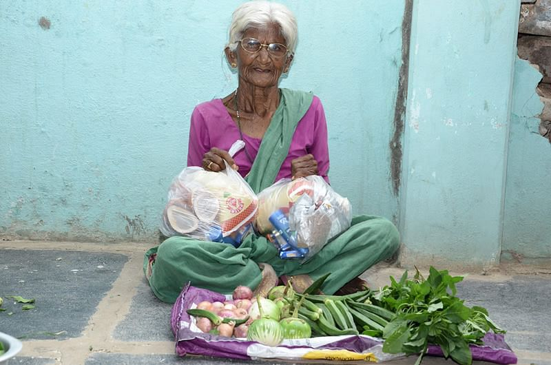 sponsorship of food provisions to poor oldage woman