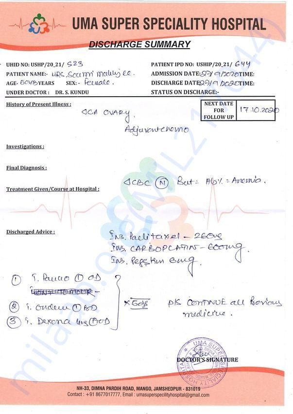 Doctor's Chemo Precription