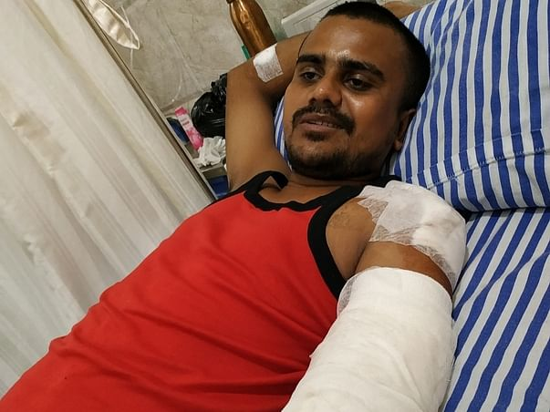 Support Govind Mahato Fight From Accident { Left Hand Loss }