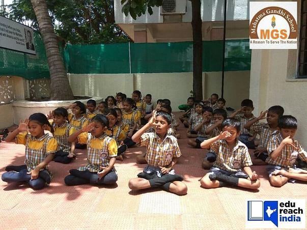 Donation drive for underprivileged kids of Mahatma Gandhi School, Pune