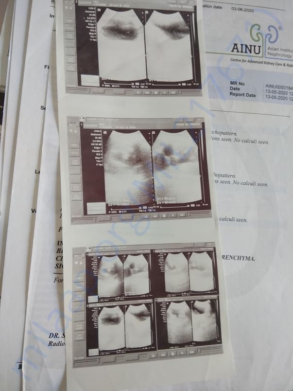 Medical documents and estimation letter from hospital