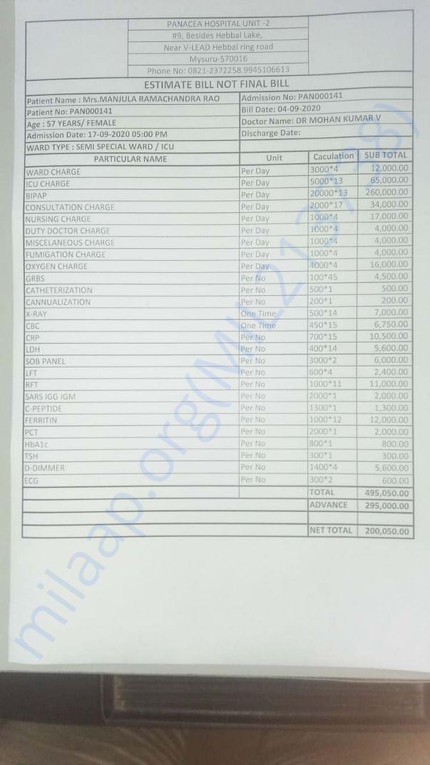 Cost Estimate Letter