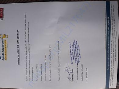 estimated certificate
