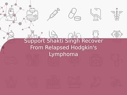 Support Shakti Singh Recover From Relapsed Hodgkin's Lymphoma