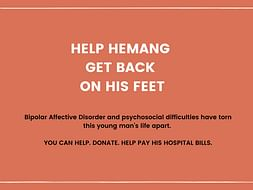 Help Hemang Recover from Bipolar Affective Disorder