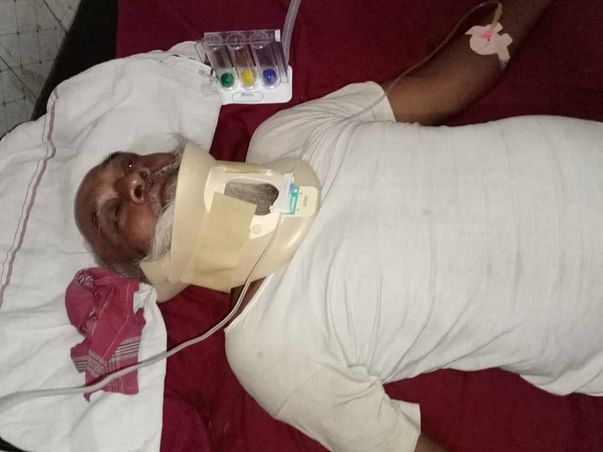 Help Mohd Safeek to fight Neck Bone Fracture and hyper-intensity in cervical cord.