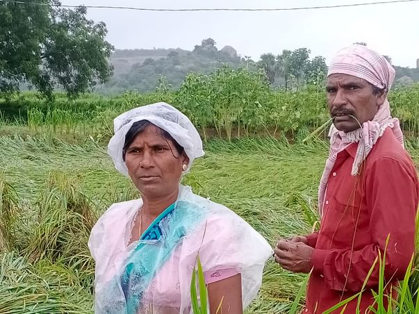 Help katrothu Gotya for paddy field drown in rain water