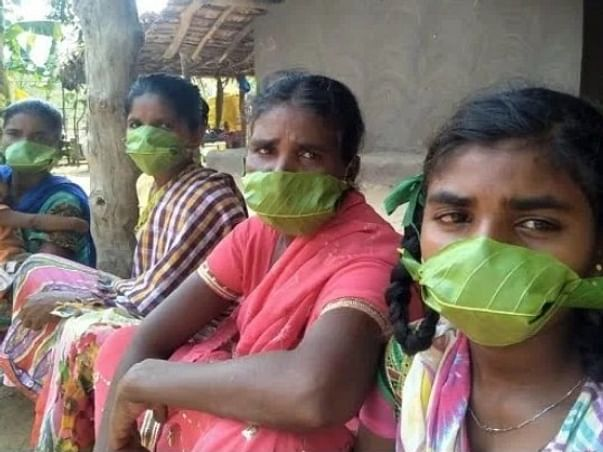 Provide Weaved Masks and Hand sanitizers to people in slums