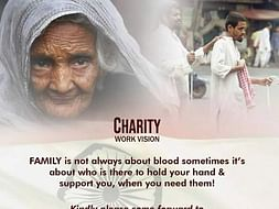 SUPPORT BLIND FAMILIES#CHARITY WORK VISION#