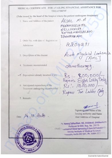 Kindly go through the medical document