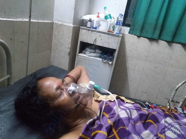 Sabitri Saikia in Hospital