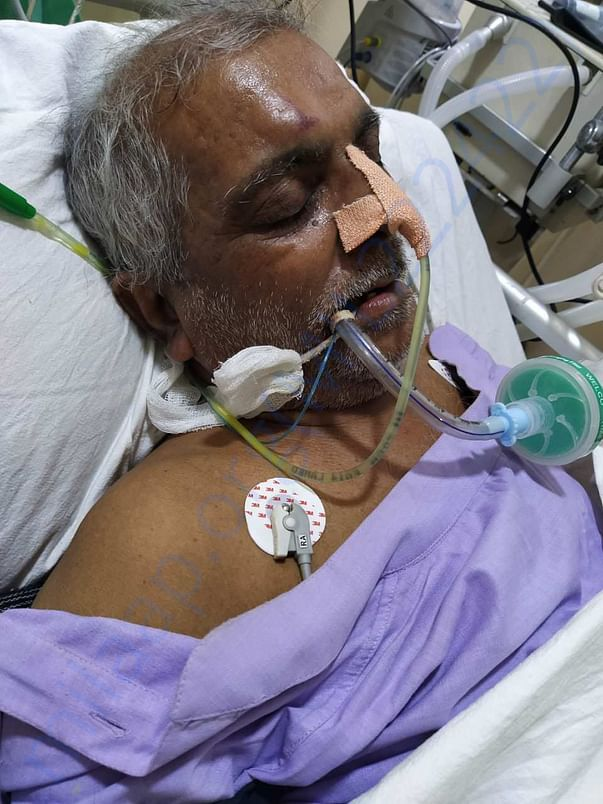 Another image of Patient Mr.Fayyaz Ahmad On Ventilator ..pls help
