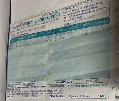 Pharmacy bill-2 (15/10/2020)