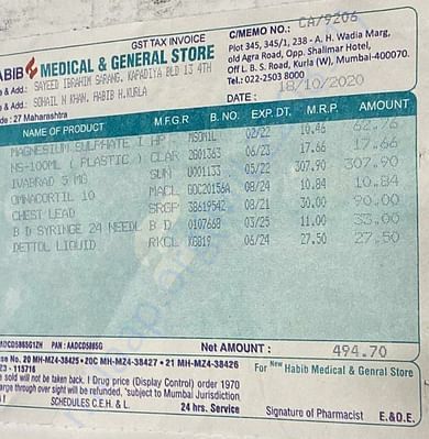 Pharmacy bill-2 (18/10/2020)