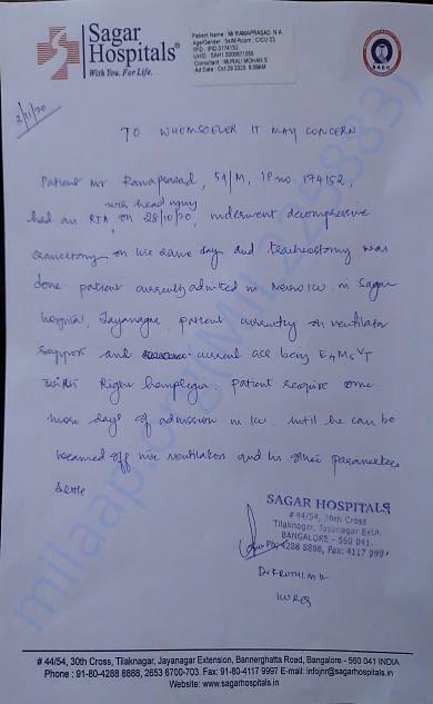 Treating Dr's Letter