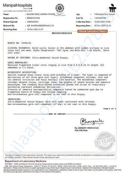 Report of doctor 2