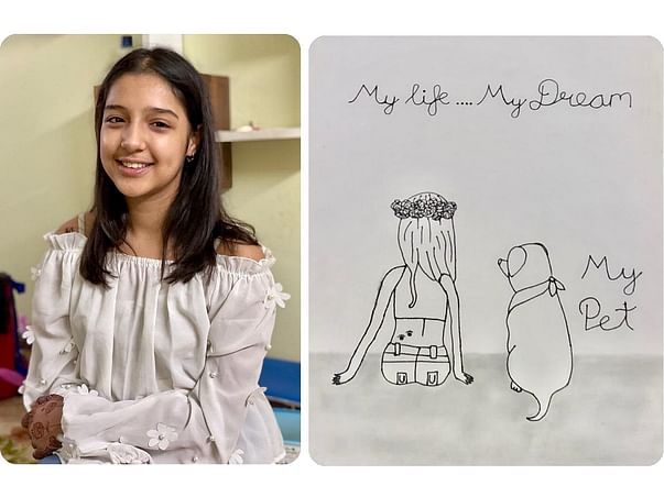 11-yr-old With Cancer Draws Pictures Of Herself As Memories For Family