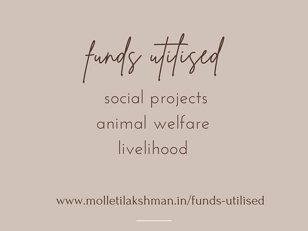 Help Molleti Lakshman a Social Ideator for Animals