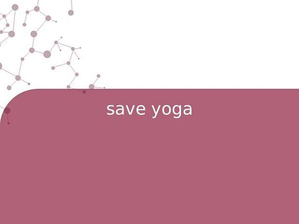 save yoga