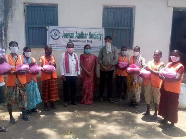 Help for distribution of PPE kits, masks and sanitizers in rural area