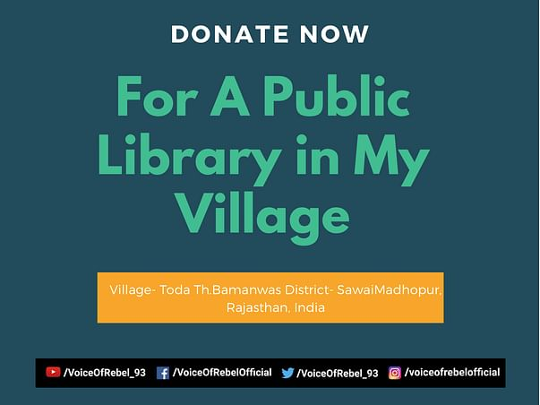 Help Us Fundraise For A Public Library in My Village