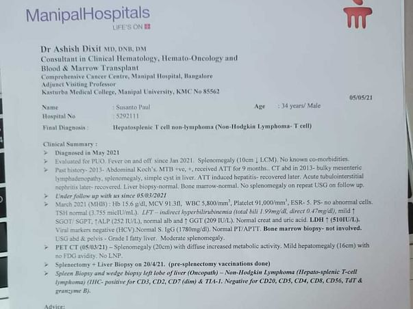 Help my husband - Susanto fight Blood Cancer - Hepatosplenic T Cell non Hodgkin Lymphoma