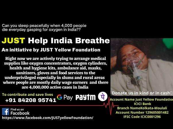 JUST Help India Breathe
