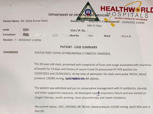 Help Aloke fight post covid complications