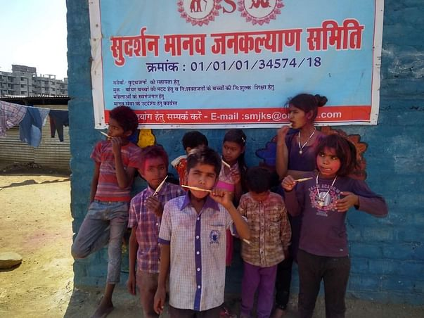 Ration for underprivileged children of immigrant labourers
