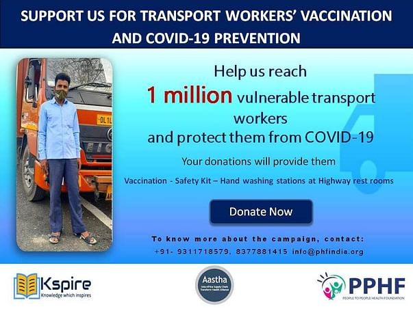 Support Us For Transport Workers Covid-19 Vaccination And Prevention