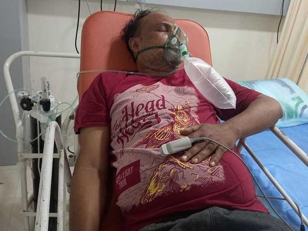 Help B. Swamy Prasad fight Covid OXYGEN LEVELS @ 57 TO 60 .