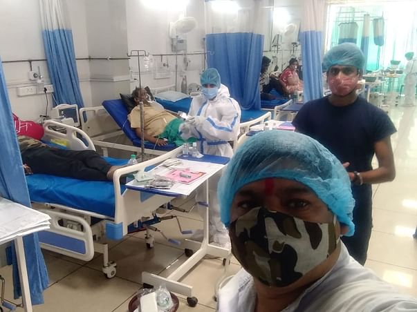 Help my father to recover from 80% lungs infected due to Covid.