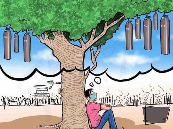 Planting trees in reducing global warming