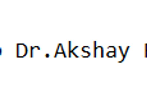 Help Dr.Akshay Recover from Covid-19