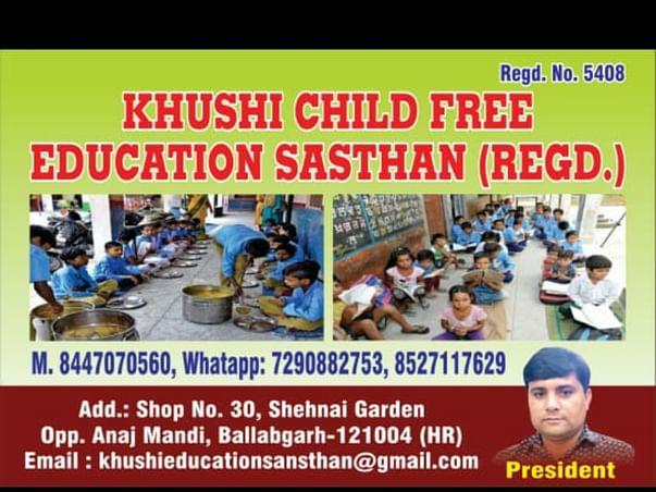 Khushi child free education sasthan