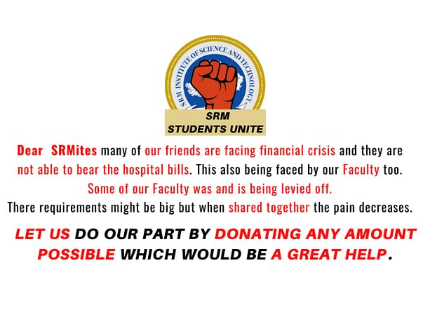 Help SRM students and Faculty.