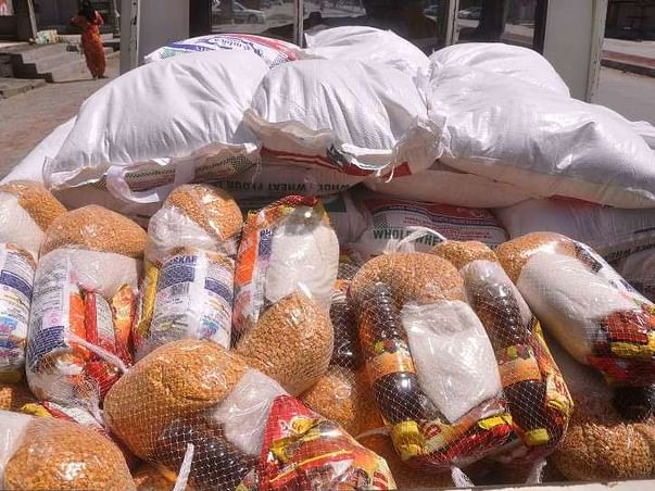 Help poor people in corona time by giving them food packets