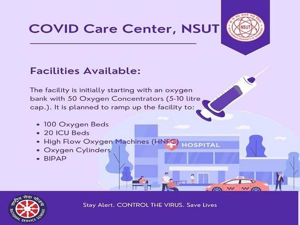 Support CoVID Care Center @ NSUT