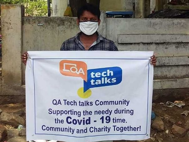 QA TechTalks Community: Supporting the needy during COVID-19