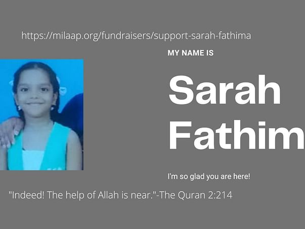 Sarah Fathima 13 yrs - Help needed for Medical treatment Expense