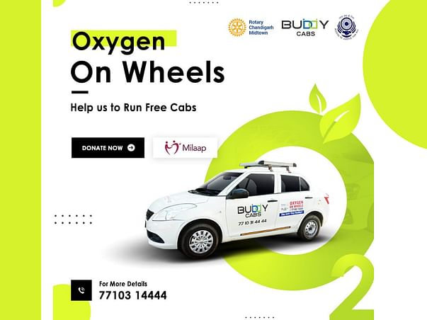 Help us run free oxygen cabs in Chandigarh/NCR - Oxygen on Wheels