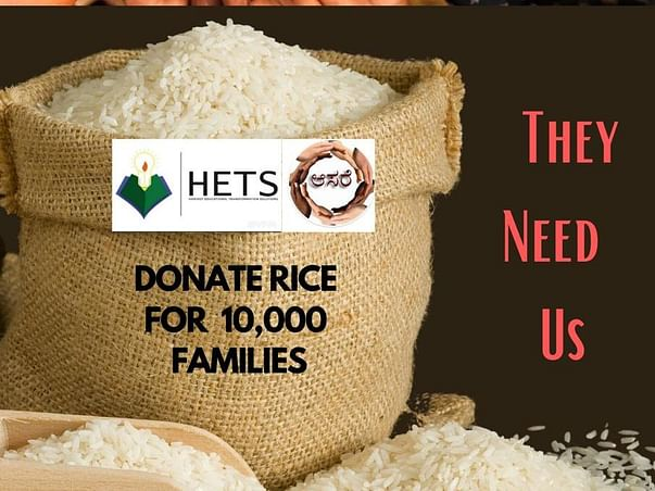 DONATE 50,000 KG RICE FOR 10,000 INDIAN FAMILIES
