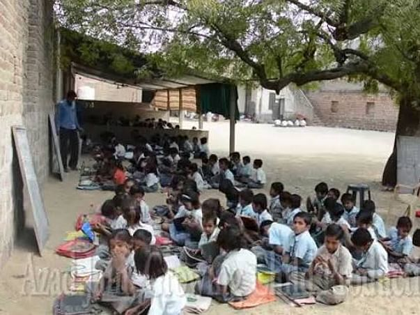 Help for construction of school classrooms of Nrusinh High School Bhat