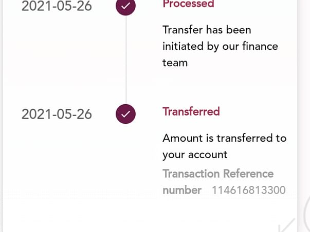 Received enough funds dont transfer anything to this link