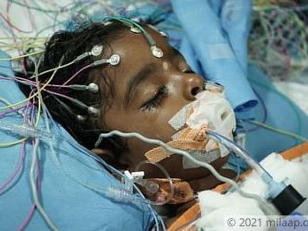 Support Likitha Recover From Brain Infection
