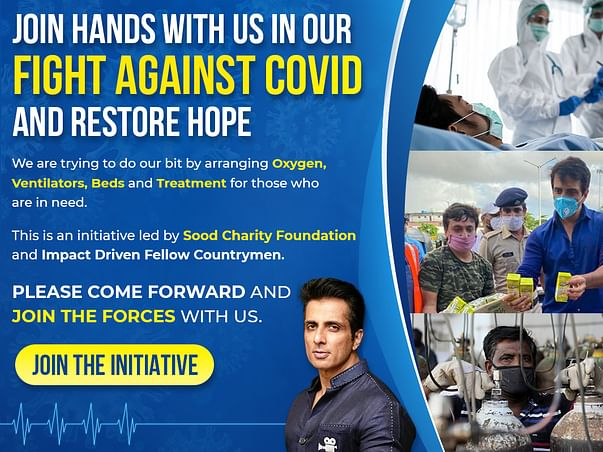 JOIN HANDS WITH US IN OUR FIGHT AGAINST COVID & RESTORE HOPE