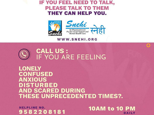 Support Snehi to provide free and confidential counselling services